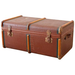 Early 20th Century Painted Steamer Travel Trunk
