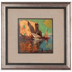 Early 20th Century Painting by Charles Bisschops, Mediterranean View