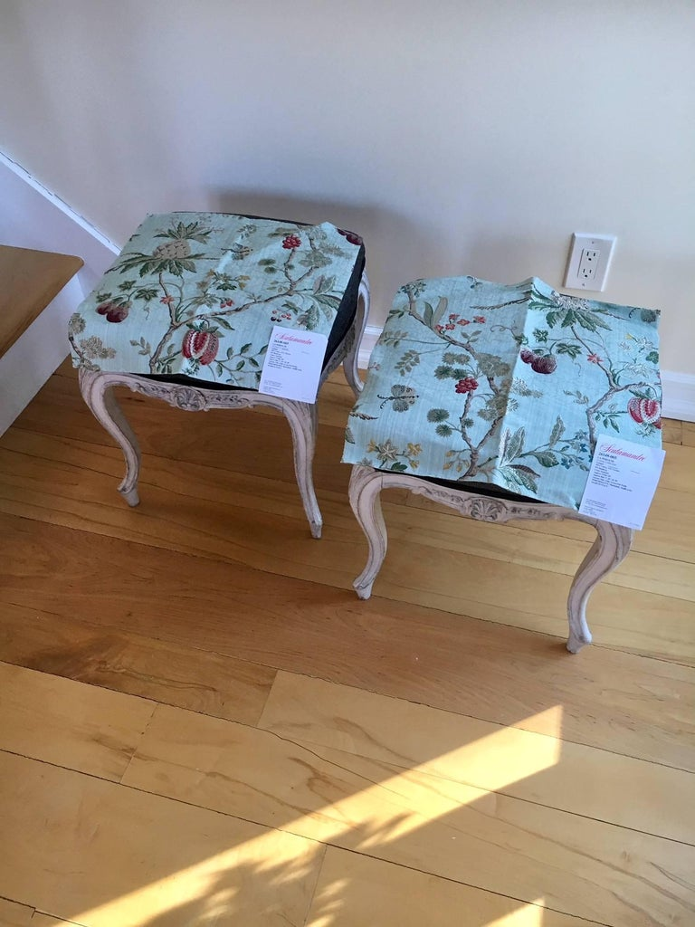 Early 20th Century Pair of Danish Louis XVI Style Stools For Sale 6