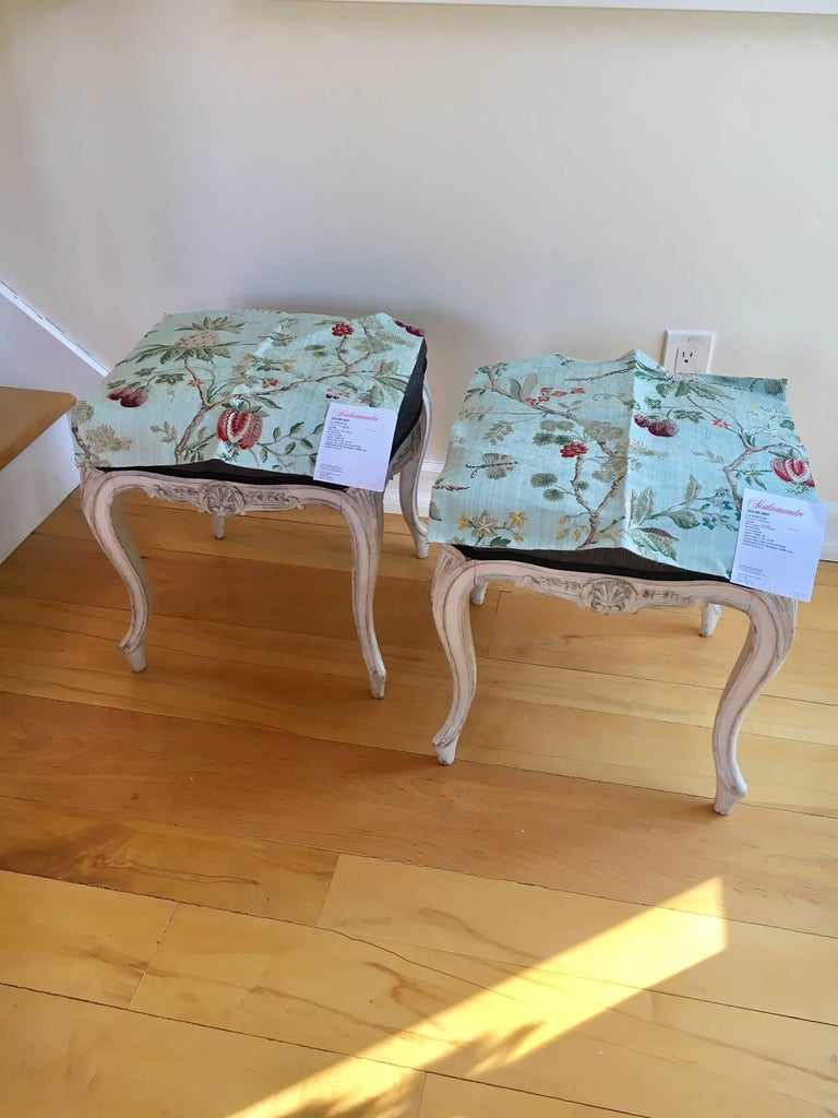 Early 20th Century Pair of Danish Louis XVI Style Stools For Sale 7