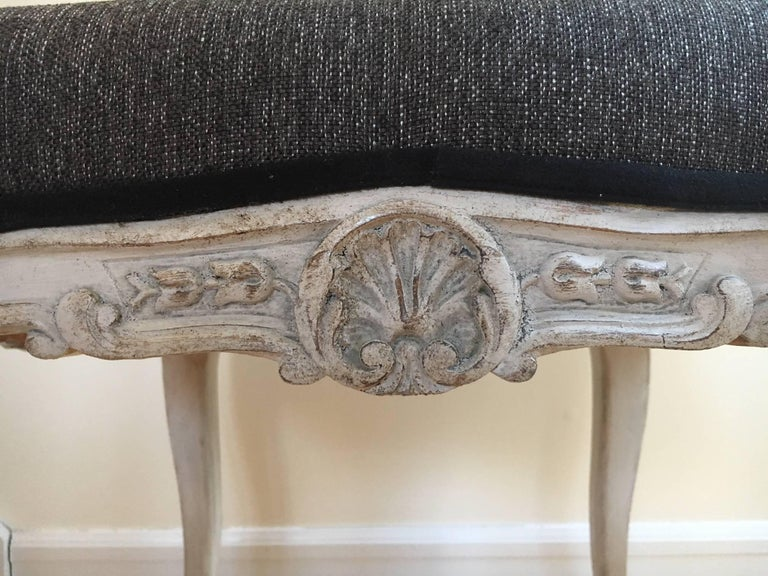 Early 20th Century Pair of Danish Louis XVI Style Stools In Good Condition For Sale In Cold Spring, NY