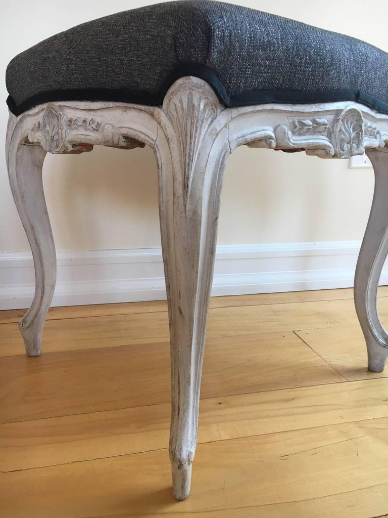 Mid-20th Century Early 20th Century Pair of Danish Louis XVI Style Stools For Sale