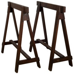 Early 20th Century Pair of Douglass Fir Sawhorses, circa 1910