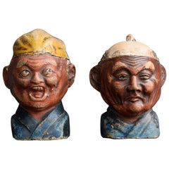 Early 20th Century Pair of Pottery Snuff Boxes