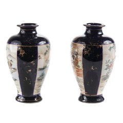 Early 20th Century Pair Of Satsuma Vases
