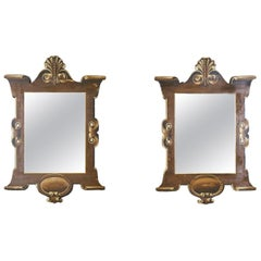 Early 20th Century Pair of Trompe l'oeil Theatre Mirrors