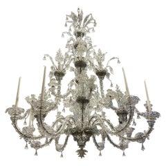 Early 20th Century Palatial Venetian Murano Glass Chandelier