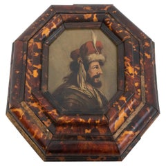 Early 20th Century Palmedes Painting in Wooden Frame