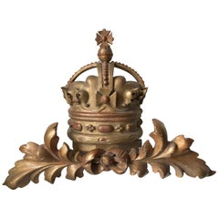 Early 20th Century Parcel Gilt Royal Crown