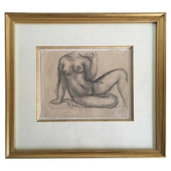 Early 20th Century Pencil Sketch by Aristide Maillol