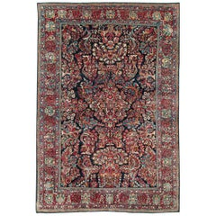 "Early 20th Century Persian ""American"" Style Floral Sarouk Accent Rug"