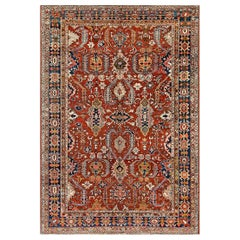 Early 20th Century Persian Heriz Handmade Rug
