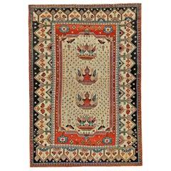Early 20th Century Persian Malayer Handmade Wool Rug