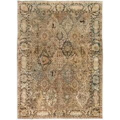 Early 20th Century Persian Tabriz Handmade Wool Rug
