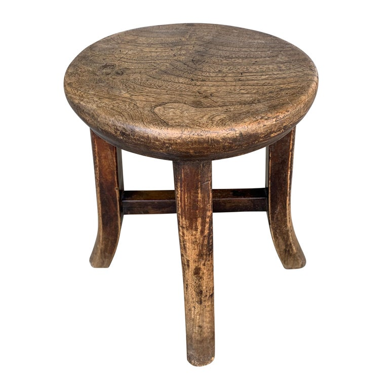 Country Early 20th Century Petite Chinese Stool For Sale