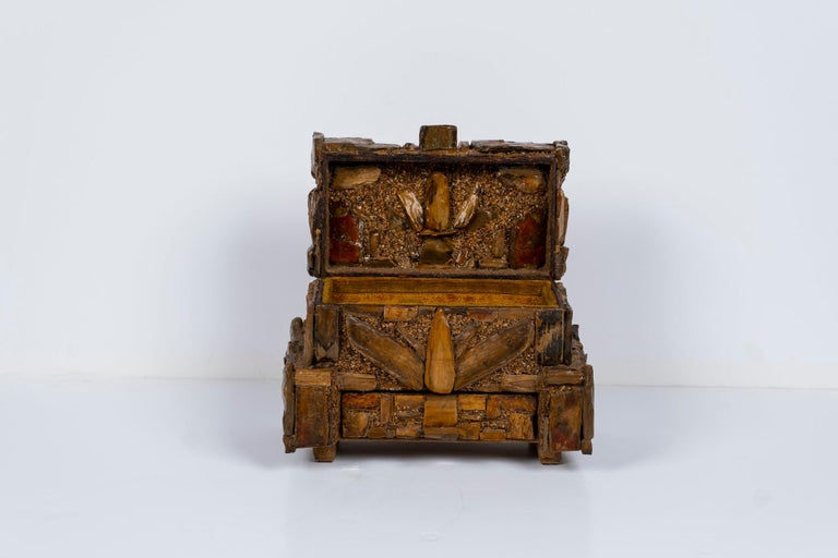 Early 20th Century Petrified Wood Folk Art Box For Sale 8