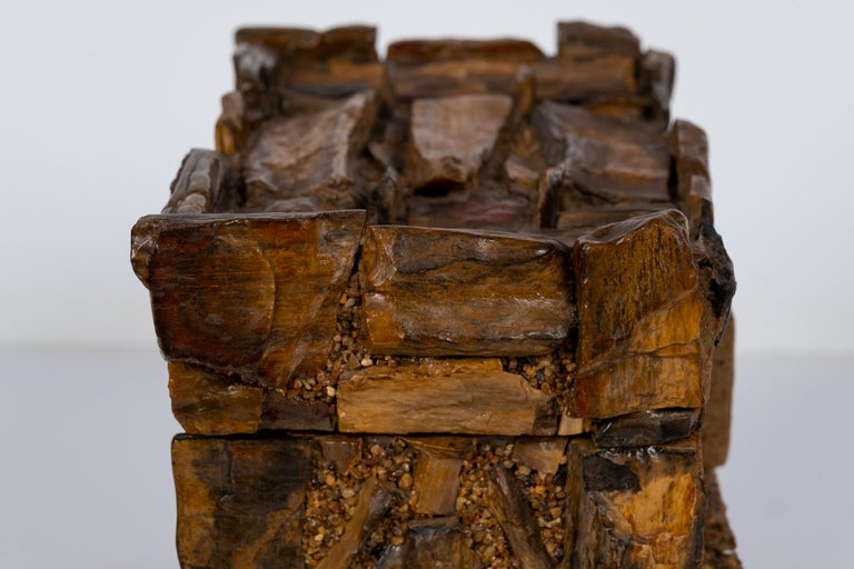 Early 20th Century Petrified Wood Folk Art Box In Good Condition For Sale In Houston, TX