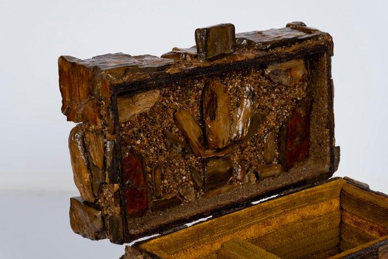 Early 20th Century Petrified Wood Folk Art Box For Sale 1