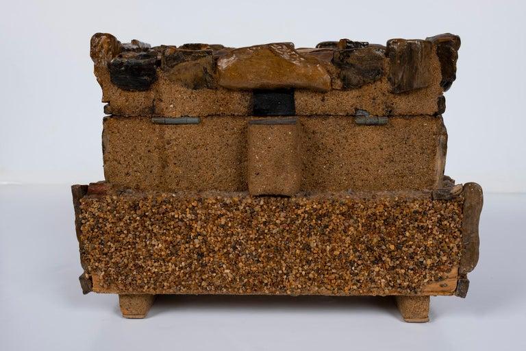 Early 20th Century Petrified Wood Folk Art Box For Sale 2
