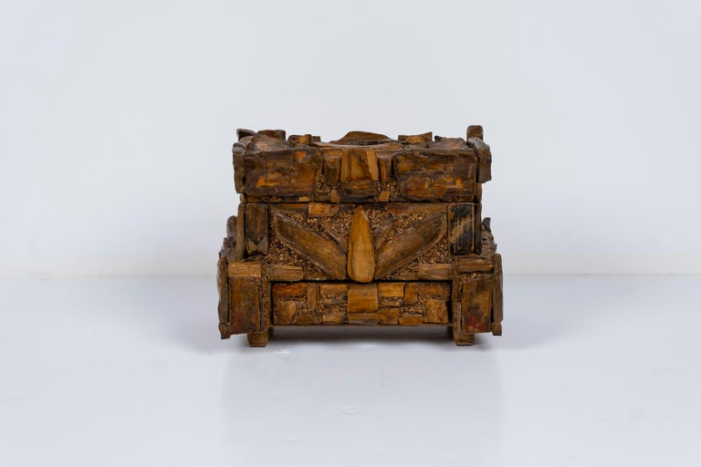 Early 20th Century Petrified Wood Folk Art Box For Sale 4