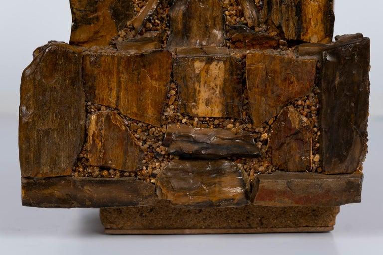 Early 20th Century Petrified Wood Folk Art Box For Sale 5