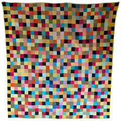 Early 20th Century Pieced Square Patchwork Quilt