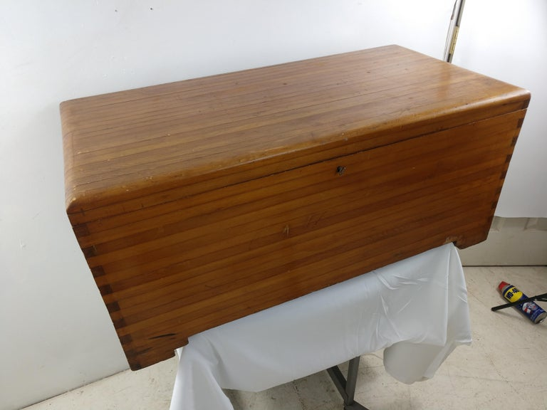 Early 20th Century Pine Blanket Chest For Sale 5