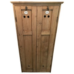 Early 20th Century Pine Lockers for Child's Room, Mudroom, Hallway