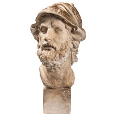An Early 20th Century Plaster Bust of the Greek King Menelaos