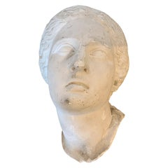 Early 20th Century Plaster Mask of Woman