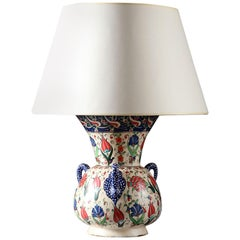 Early 20th Century Polychrome Turkish Islamic Mosque Lamp in the Iznik Style