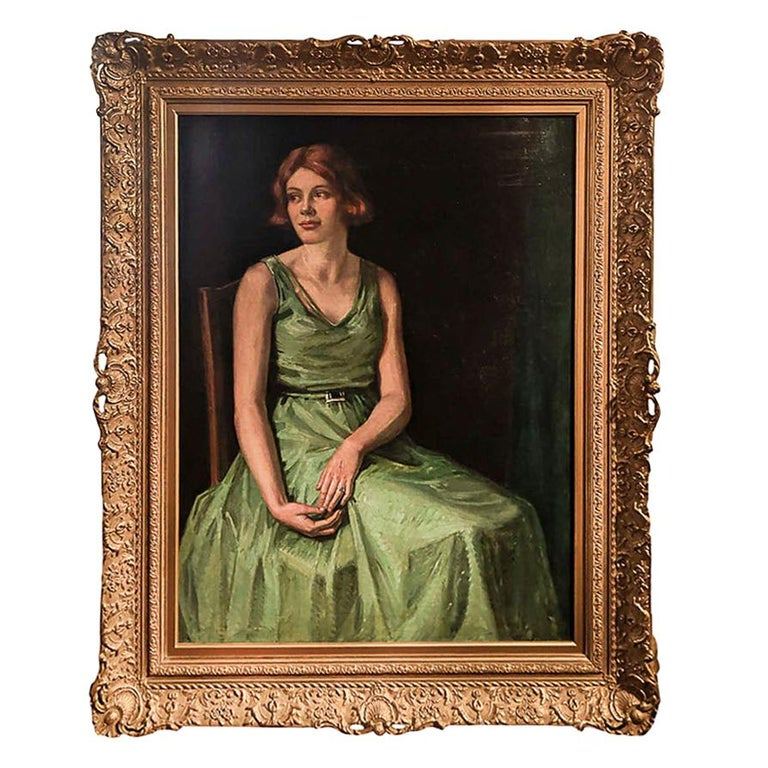 """Early 20th Century """"Portrait of a Young Phyllis Calvert"""", by Garnet R. Wolseley For Sale"""