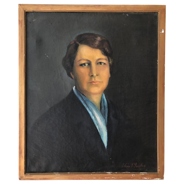 Early 20th Century Portrait of an Argentinian Woman For Sale