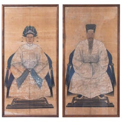 Early 20th Century Portraits of Chinese Dignitaries, a Pair