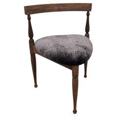 Early 20th Century Primitive Three-Legged Chair