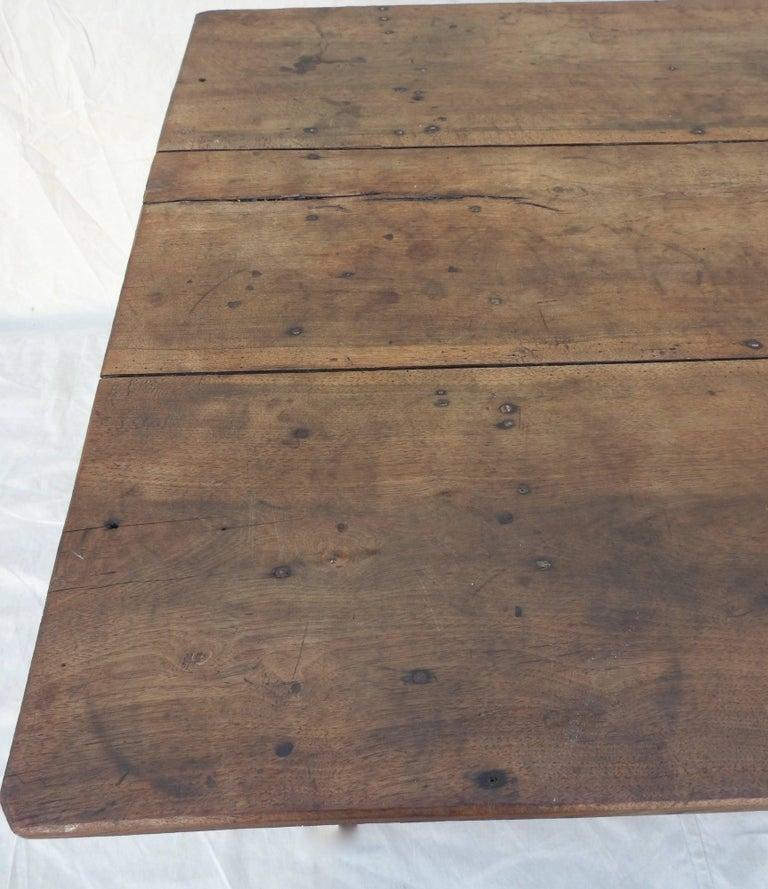 Early 20th Century Primitive Walnut Farm Table For Sale 5