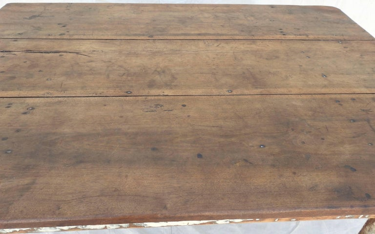 Early 20th Century Primitive Walnut Farm Table For Sale 6