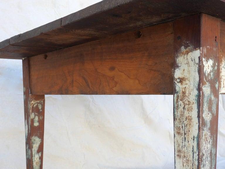 Early 20th Century Primitive Walnut Farm Table For Sale 8