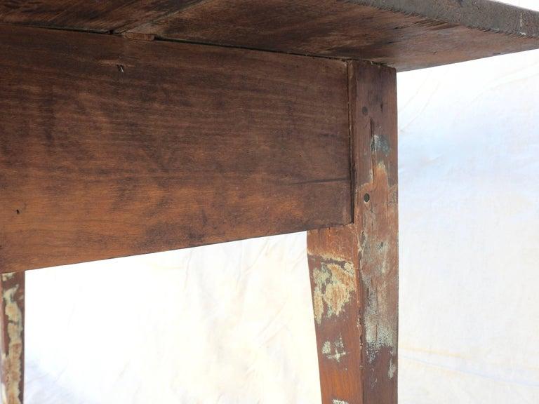 Early 20th Century Primitive Walnut Farm Table For Sale 10