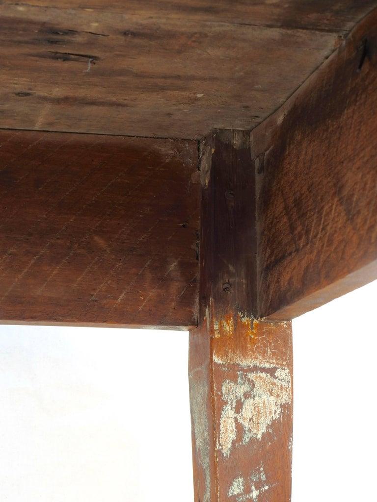 Early 20th Century Primitive Walnut Farm Table For Sale 1