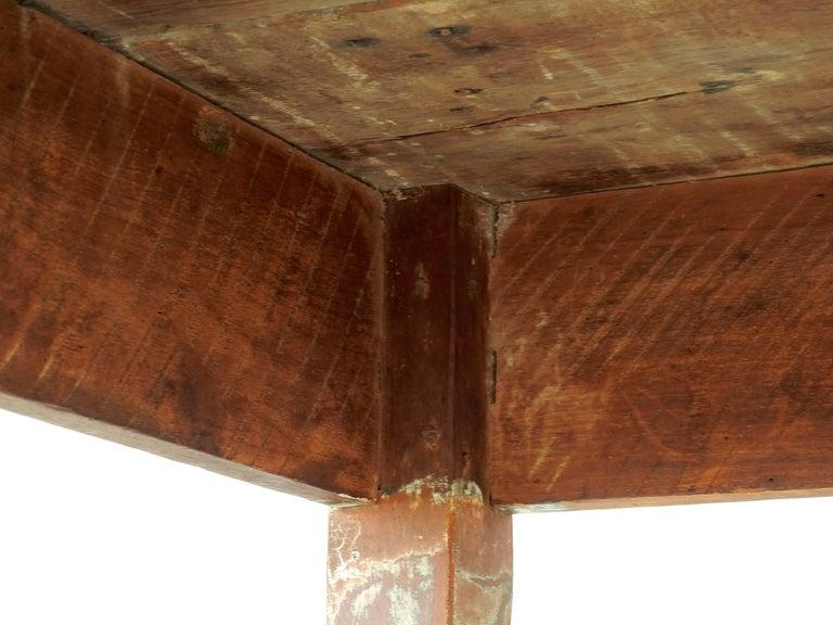 Early 20th Century Primitive Walnut Farm Table For Sale 2
