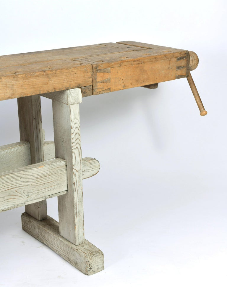 Early 20th Century Primitive Workbench For Sale 1