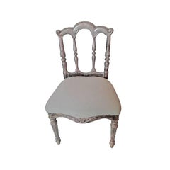 Early 20th Century Prince Chair with Silver Sheathing