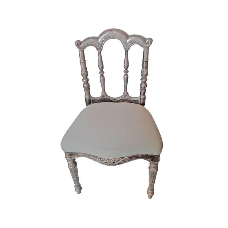 Early 20th Century Prince Chair with Silver Sheathing For Sale