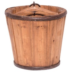 Early 20th Century Provincial Chinese Water Bucket