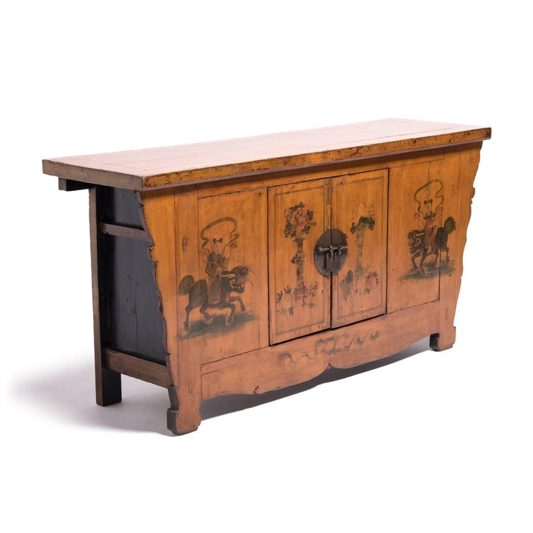 Early 20th Century Chinese Painted Qilin Sideboard For Sale 2