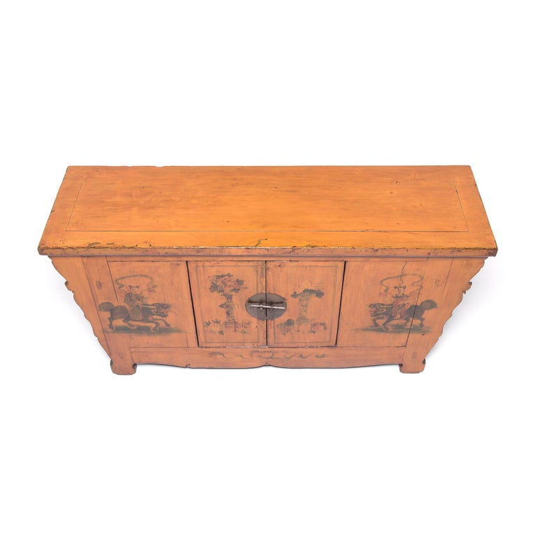 Early 20th Century Chinese Painted Qilin Sideboard For Sale 3