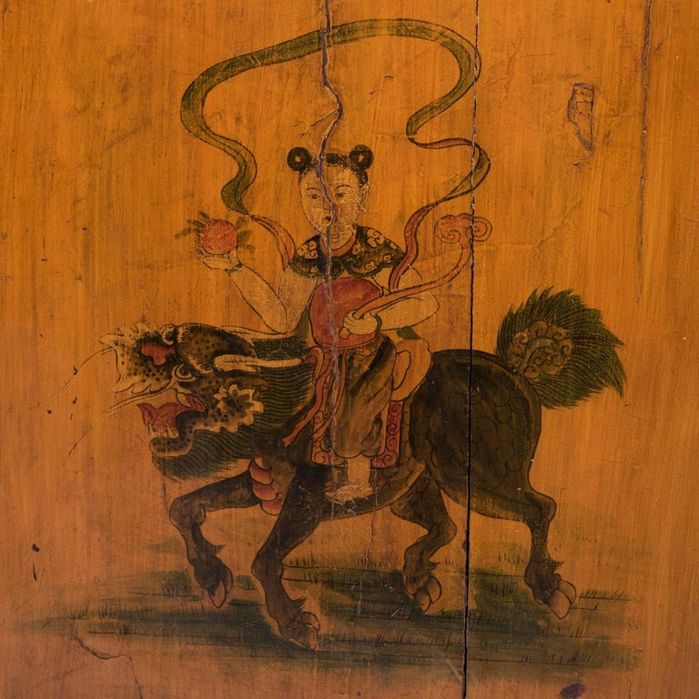 Early 20th Century Chinese Painted Qilin Sideboard For Sale 5