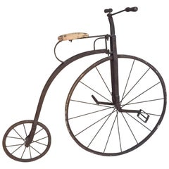 Early 20th Century, Rare Antique Child High Wheeler Bicycle