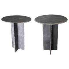 Early 20th Century Rare Black Slate Tables From Trelaze, France